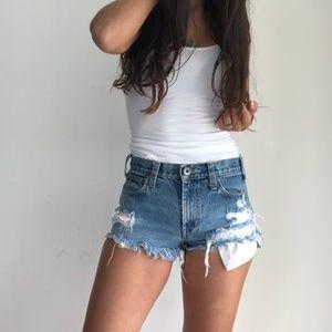 Hurley distressed denim cutoff jean shorts 29